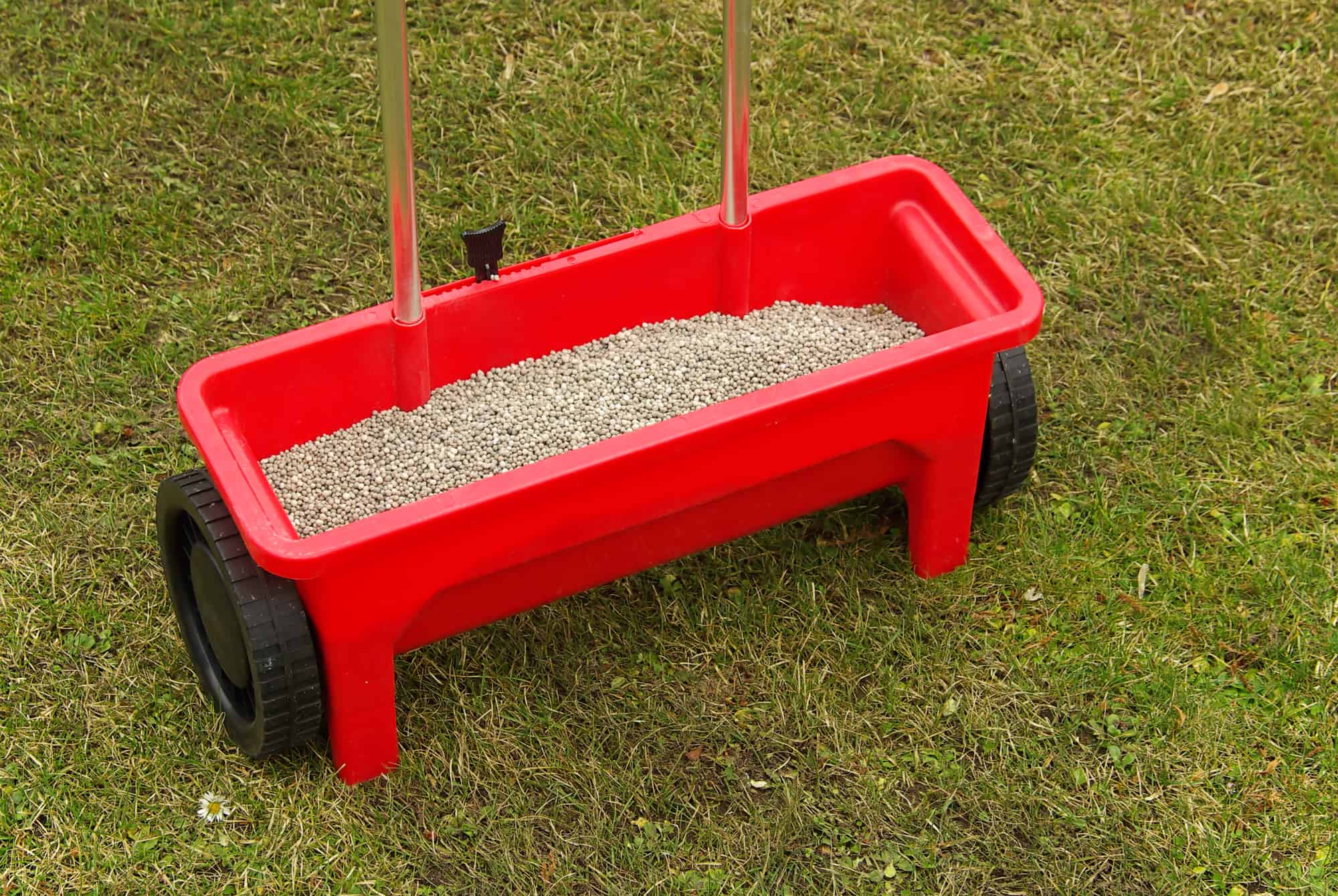 drop spreaders for seeding and fertilizing